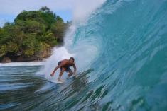 The point reef break 3 min away
